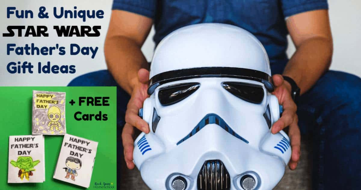 Find the right gift for your special guy with these fun & unique Star Wars Father's Day gift ideas. Plus, get 3 free printable cards!