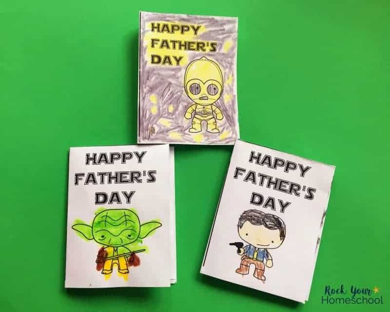 Have a stellar Father's Day with these free printable Star Wars coloring cards.