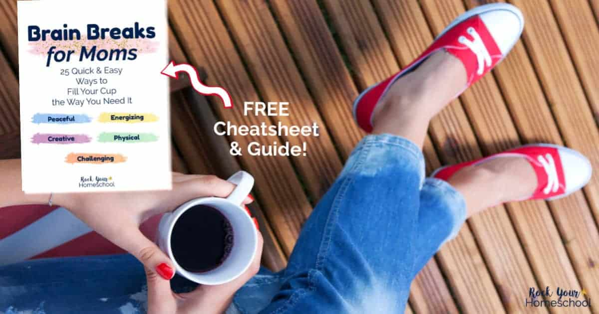 Find out how Brain Breaks for Moms can help you feel like yourself again! Get this free cheatsheet & guide filled with ideas for quick & easy self-care.