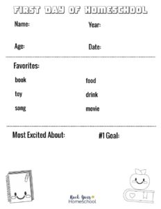 thumbnail of First Day of Homeschool Printable neutral