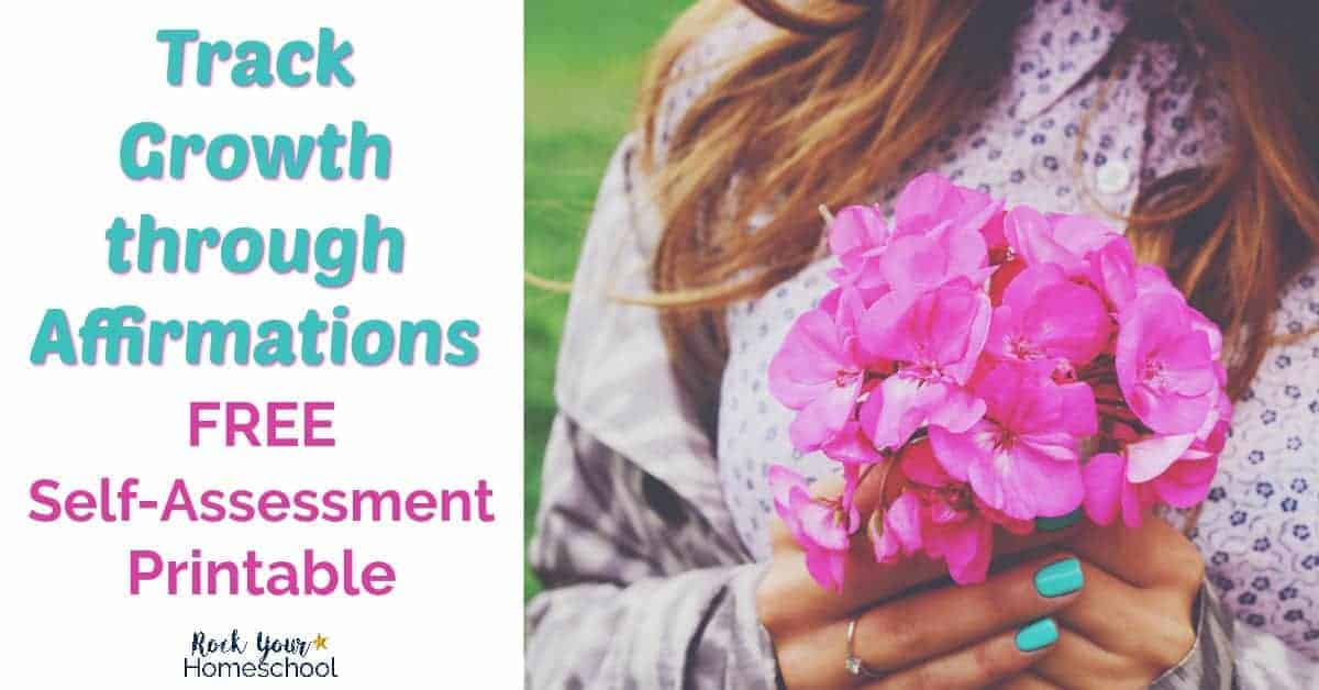 You can experience the benefits & track growth through affirmations. Join our FREE Homeschool Mom Mindset Challenge to learn how to make affirmations work for you.