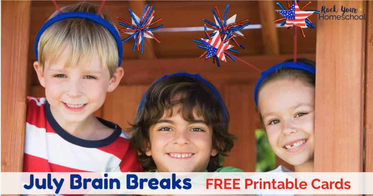 Your kids will have so much fun with these free July Brain Breaks with seasonal & fun holiday themes.