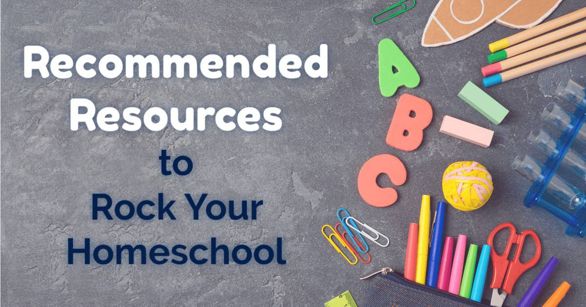 Wondering how to Rock Your Homeschool? These recommended resources are materials & sites that we LOVE. Great ways to enjoy your homeschool life :)