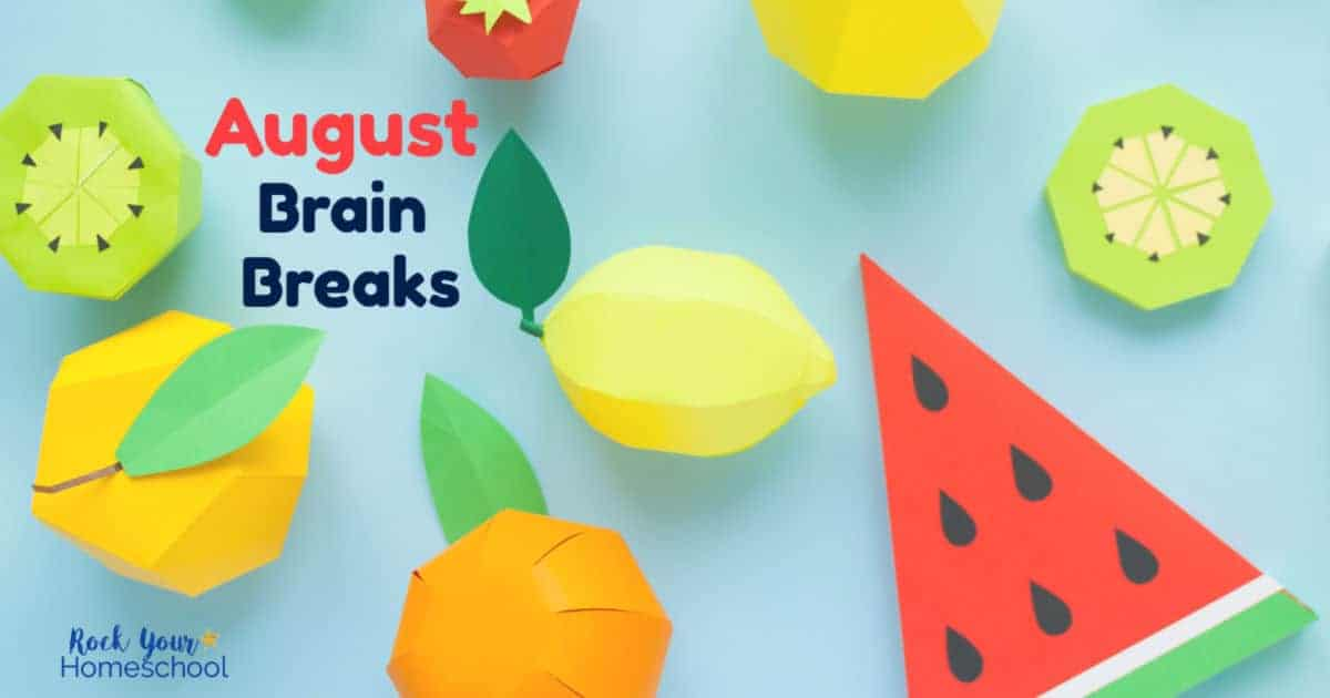 These free printable cards of August Brain Breaks are awesome ways to help your kids enjoy learning fun activities.