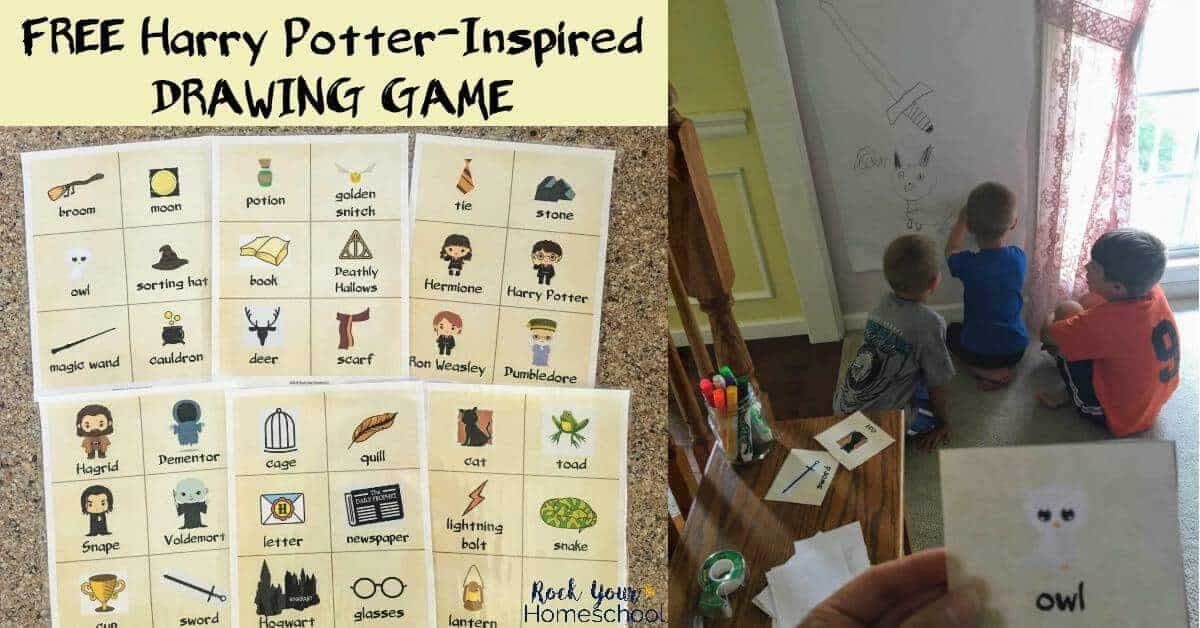 Have magical fun with this free Harry Potter-Inspired Drawing Game. Great for parties, learning & family fun!