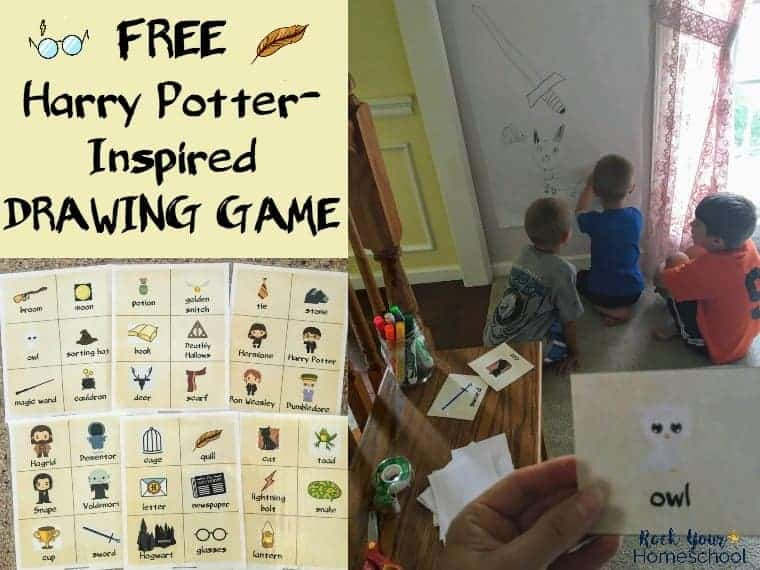 Have magical fun with this free Harry Potter-Inspired Drawing Game with printable cards.