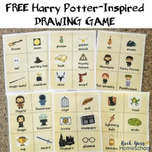 Get this free Harry Potter-Inspired Drawing Game for magical fun!