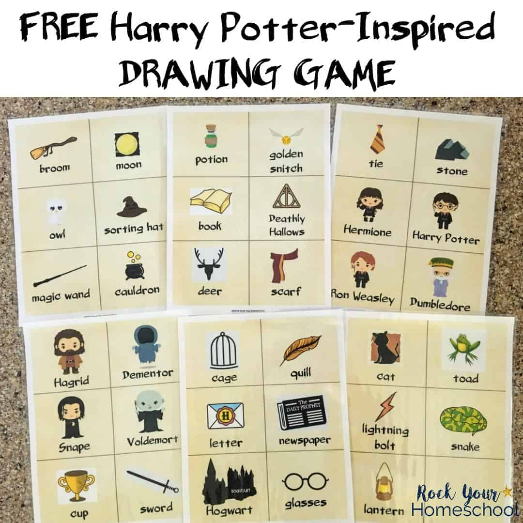Harry Potter-Inspired Drawing Game - Rock Your Homeschool