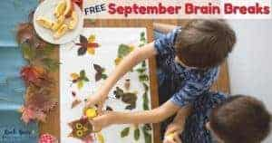 These September brain breaks are easy ways to add homeschool fun activities to your day.