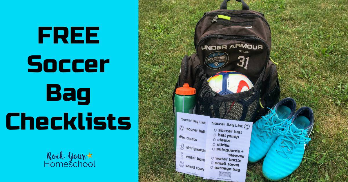 524708f9df Help your soccer players get ready for practices   games! Two free soccer  bag checklists