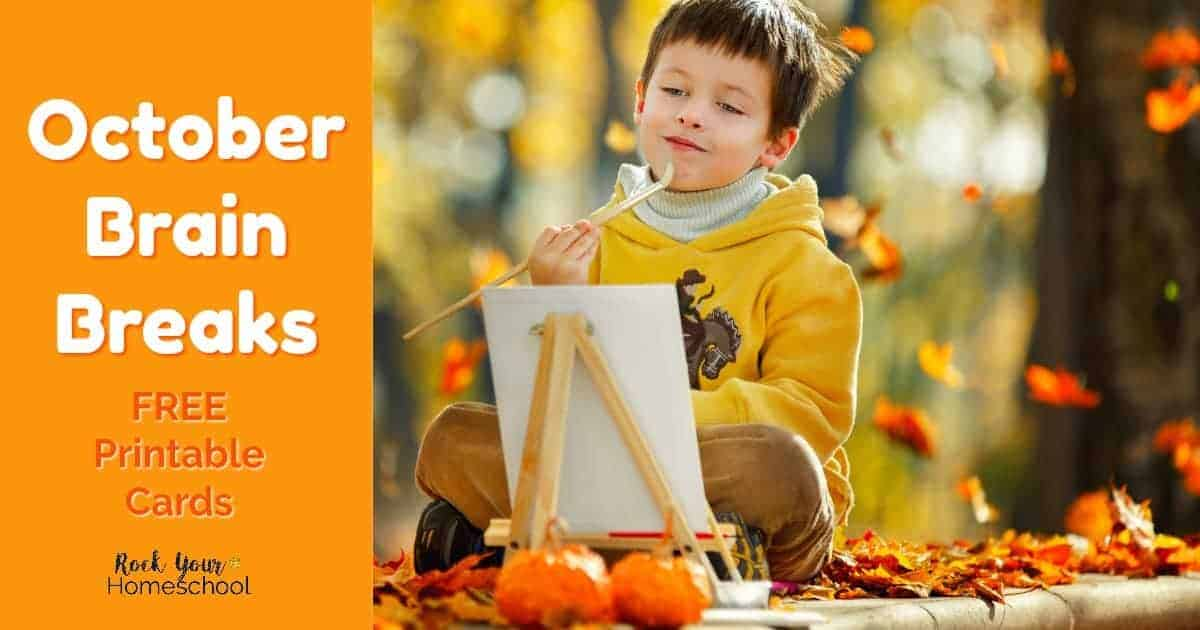 These free October brain breaks will help you have easy homeschool fun with your kids!
