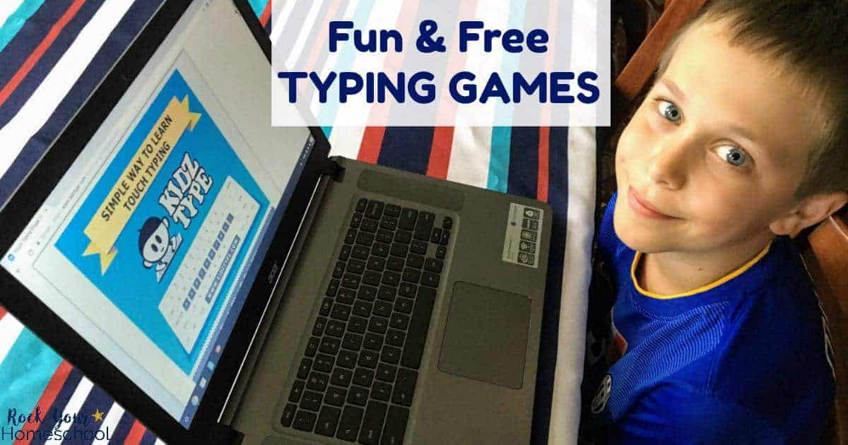 Add these free typing games to your homeschool for an easy & affordable (free!) boost.