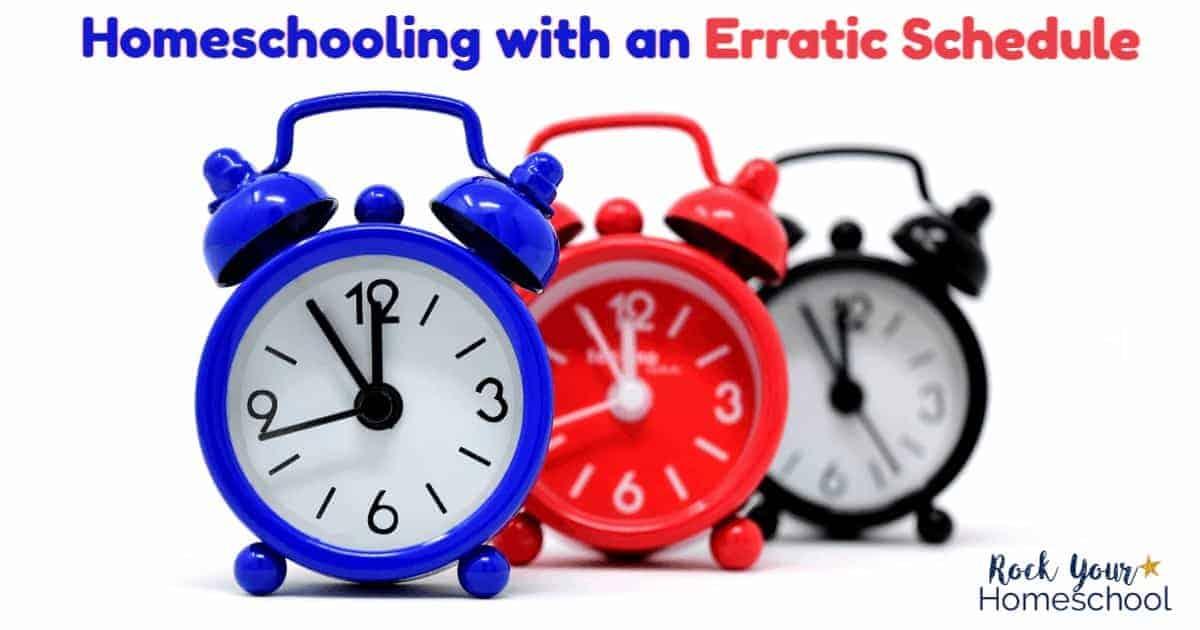 You CAN enjoy homeschooling despite an erratic schedule. Get tips & resources here!
