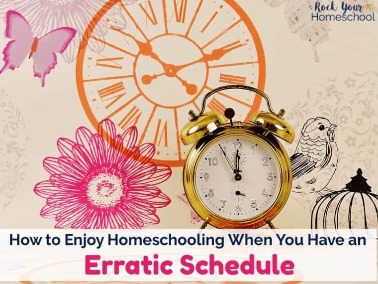 How to Enjoy Your Homeschool When You Have an Erratic Schedule