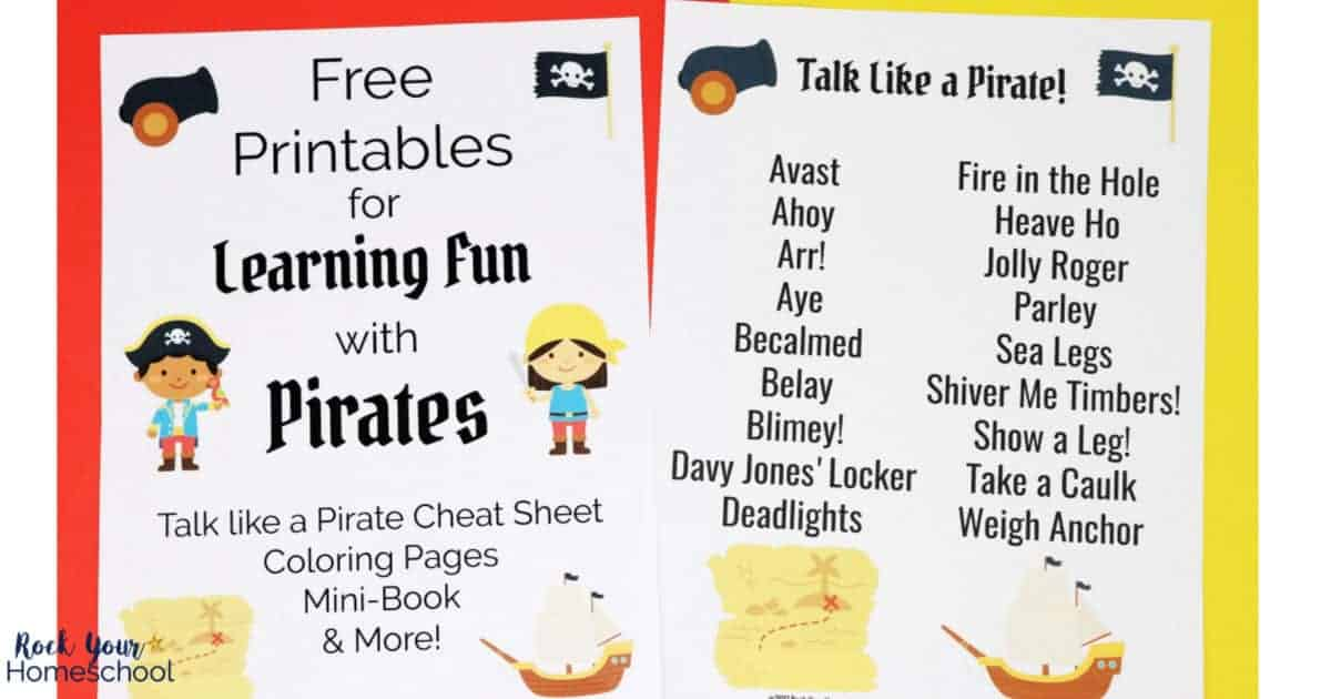 photo regarding Pirates Printable referred to as Cost-free Printables for Finding out Pleasurable with Pirates - Rock Your
