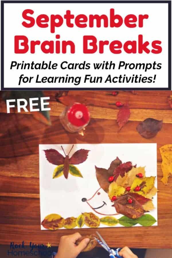Free September Brain Breaks for Easy Homeschool Fun