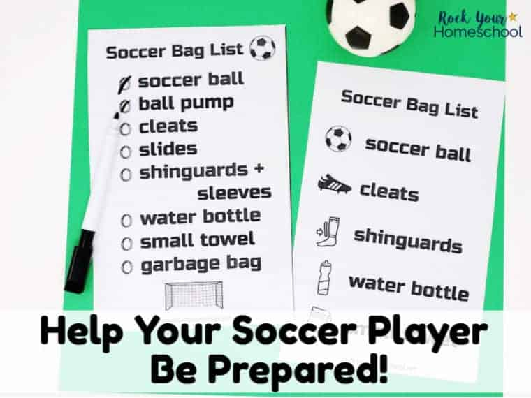Free Soccer Bag Checklists to Help Your Kids