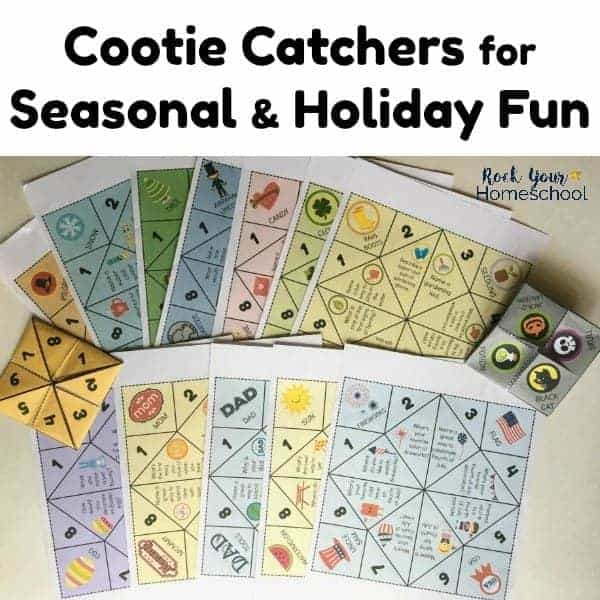 Have some awesome fun with kids with these printable cootie catchers for seasonal & holiday activities.