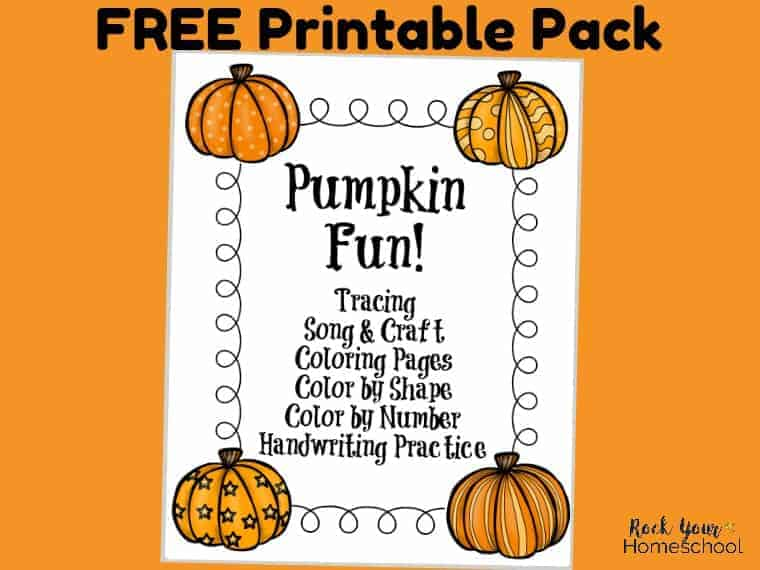 Have some fantastic Fall learning fun with your kids with this free printable pack for pumpkin fun. Awesome activities for easy classroom, family, & homeschool fun!