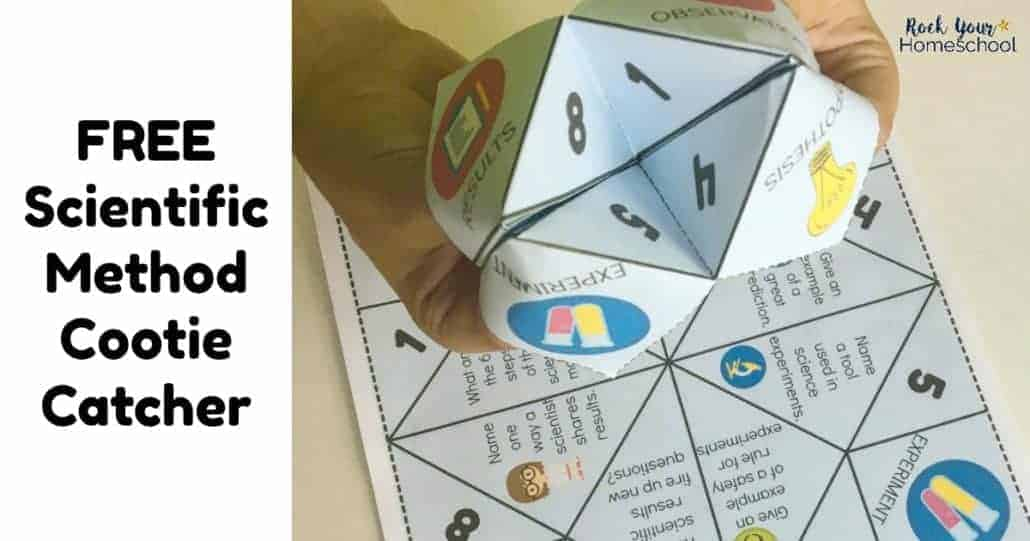 Enjoy learning fun with your kids with this free scientific method cootie catcher. A printable foldable activity great for classroom fun & homeschool brain breaks.
