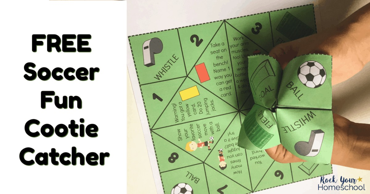 Have super fun with your soccer fan using this free printable Soccer Fun Cootie Catcher.