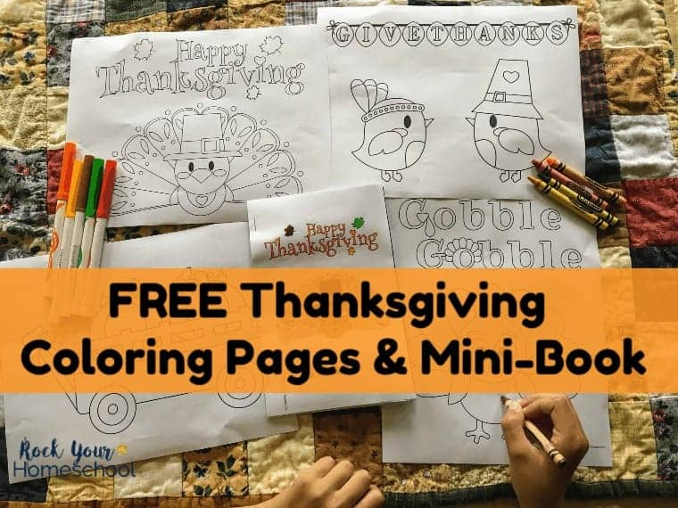 These free Thanksgiving Coloring Pages & Mini-Book are excellent ways to boost your holiday with kids. Wonderful for classroom, homeschool, & family celebrations!