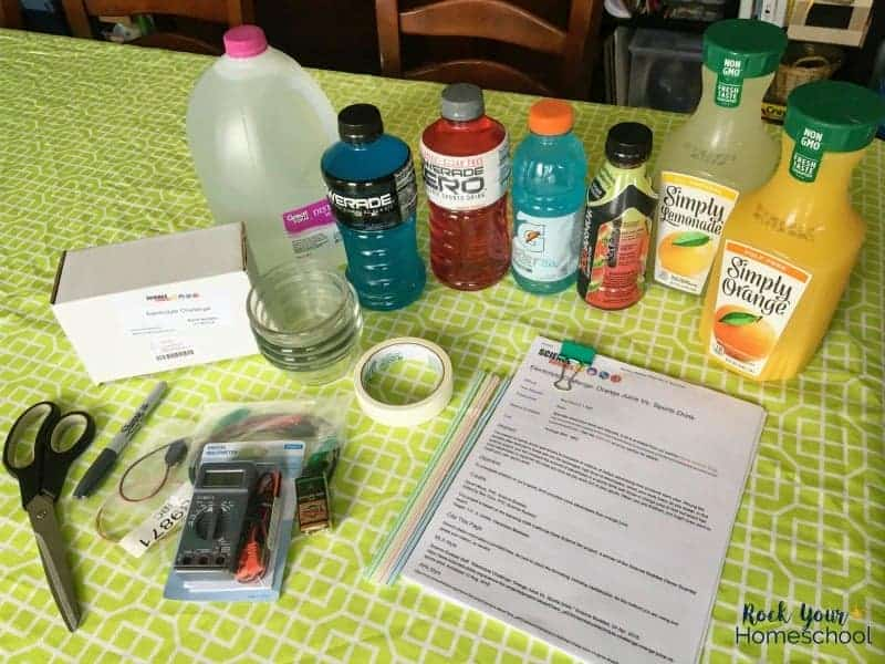 This homeschool science project is an awesome way to boost learning fun & get your kids engaged by figuring out what's the best electrolyte drink.