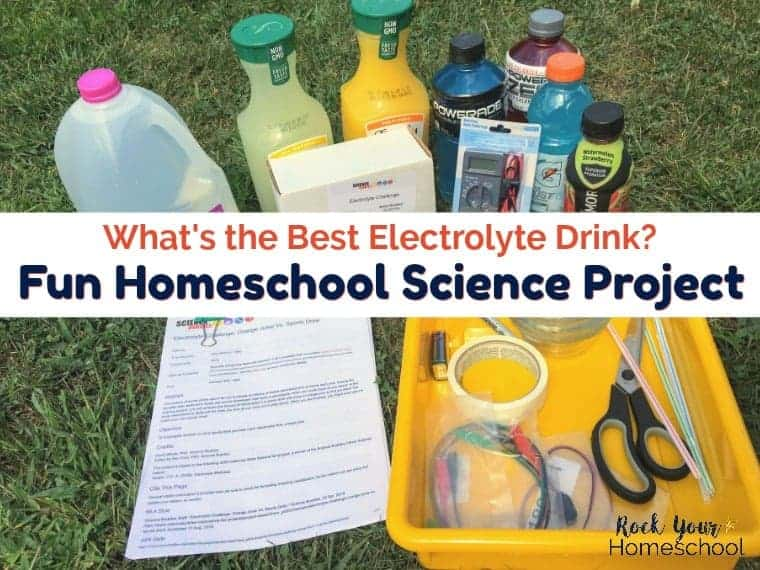 This homeschool science project using the Electrolyte Challenge Sensor Kit helps your kids determine what's the best electrolyte drink.