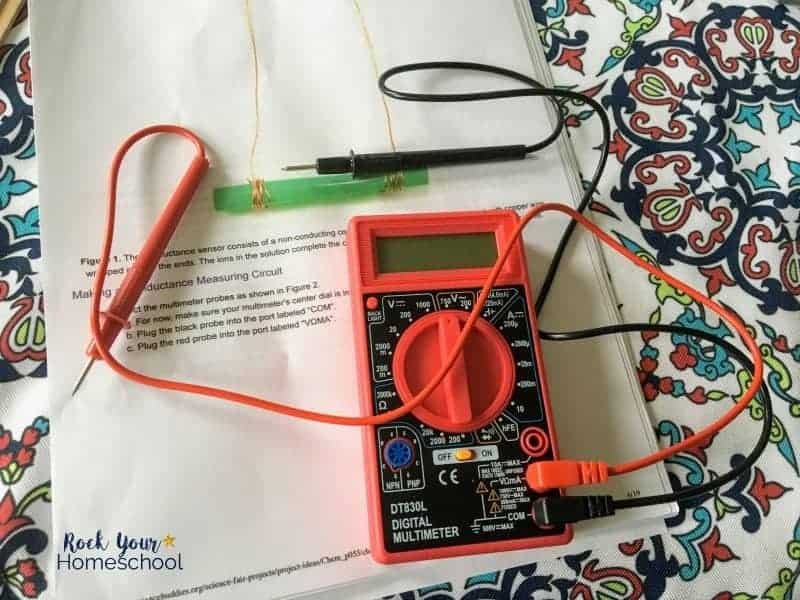 This Electrolyte Challenge Sensor Kit is fantastic homeschool science project.