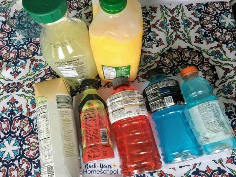 You'll have the opportunity to talk with your kids about proper nutrition & hydration in this homeschool science project.