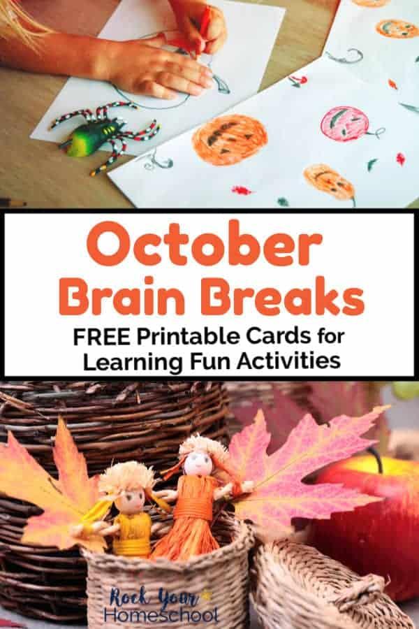 October Brain Breaks for Free & Easy Homeschool Fun