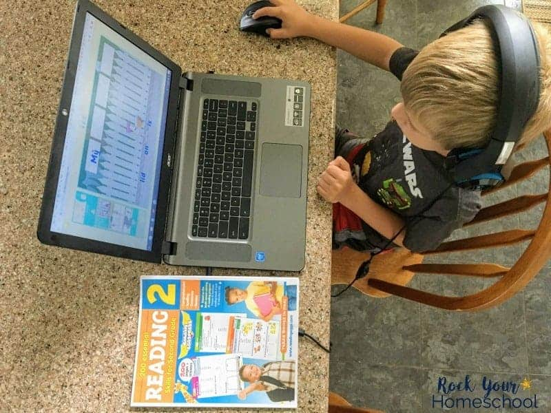 Your kids will love boosting math & reading skills with online learning paired with workbooks.