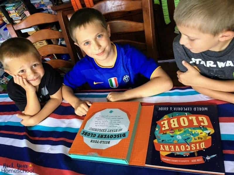 My boys love this Discovery Globe Kit from Candlewick Press's Children's books collection.