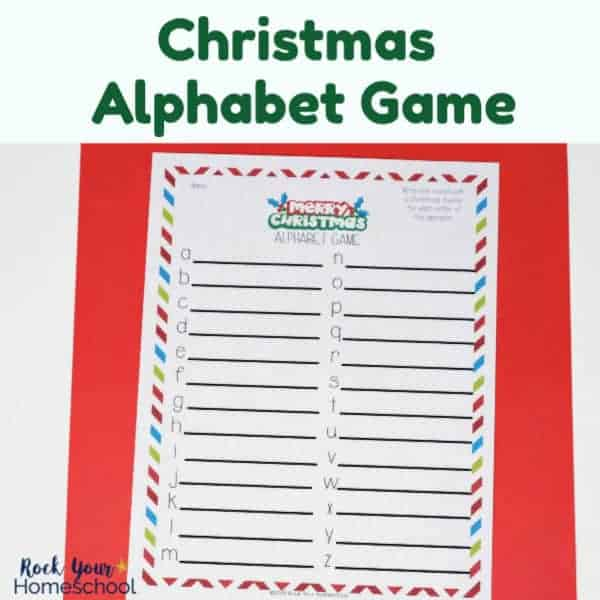 This free printable Christmas Alphabet Game is an awesome activity for your holiday fun with kids.