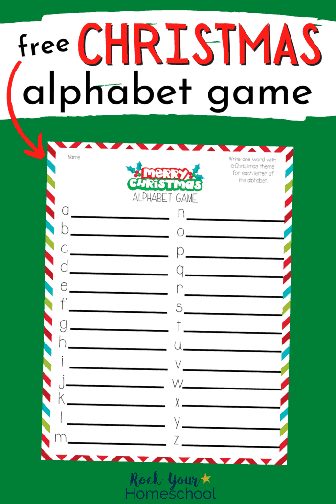 Christmas alphabet game to feature the amazing holiday fun you'll have with this free Christmas game