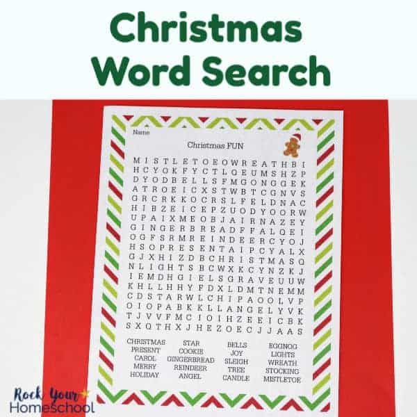 Enjoy an easy activity for holiday fun with this Christmas Word Search.