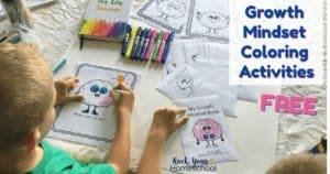 Enhance your growth mindset lessons & discussion with these free Growth Mindset Coloring Activities! Great for family, homeschool, & classroom fun!