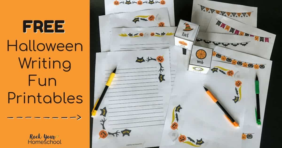 Enjoy these free Halloween writing fun printable pages & activities with your kids for a special holiday.
