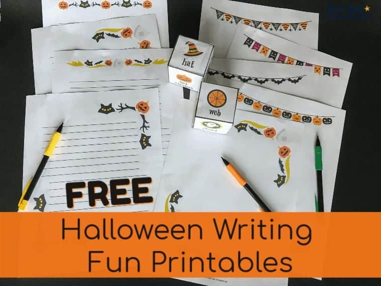 Have Halloween writing fun with your kids using these 11 free printable pages & activities.