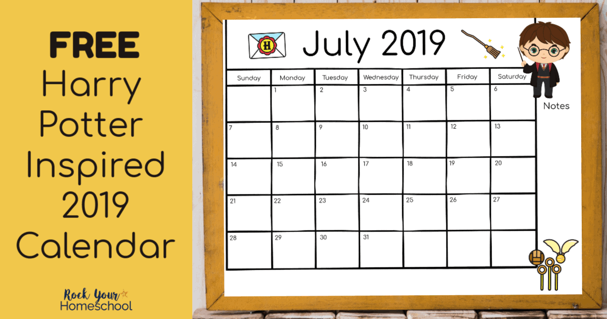 Free Harry Potter Inspired Calendar For A Magical 2019 Rock Your