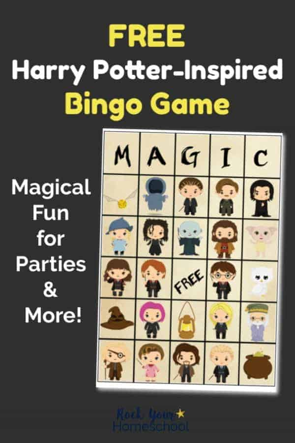 Free Harry Potter-Inspired Bingo Game Kids Will Love ...