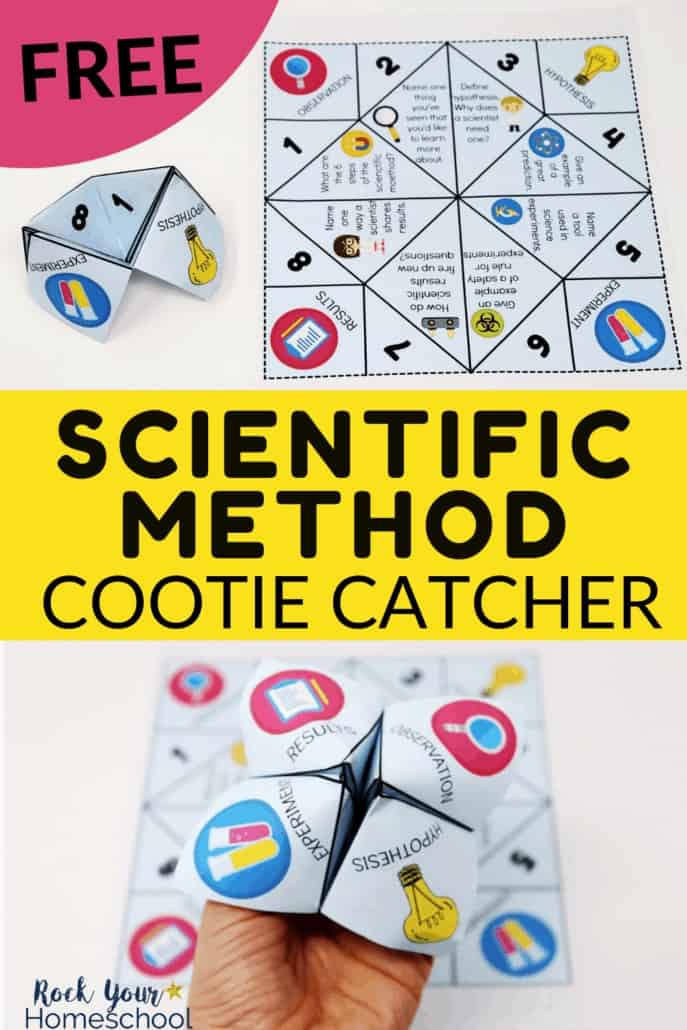 Free Scientific Method Cootie Catcher for Learning Fun