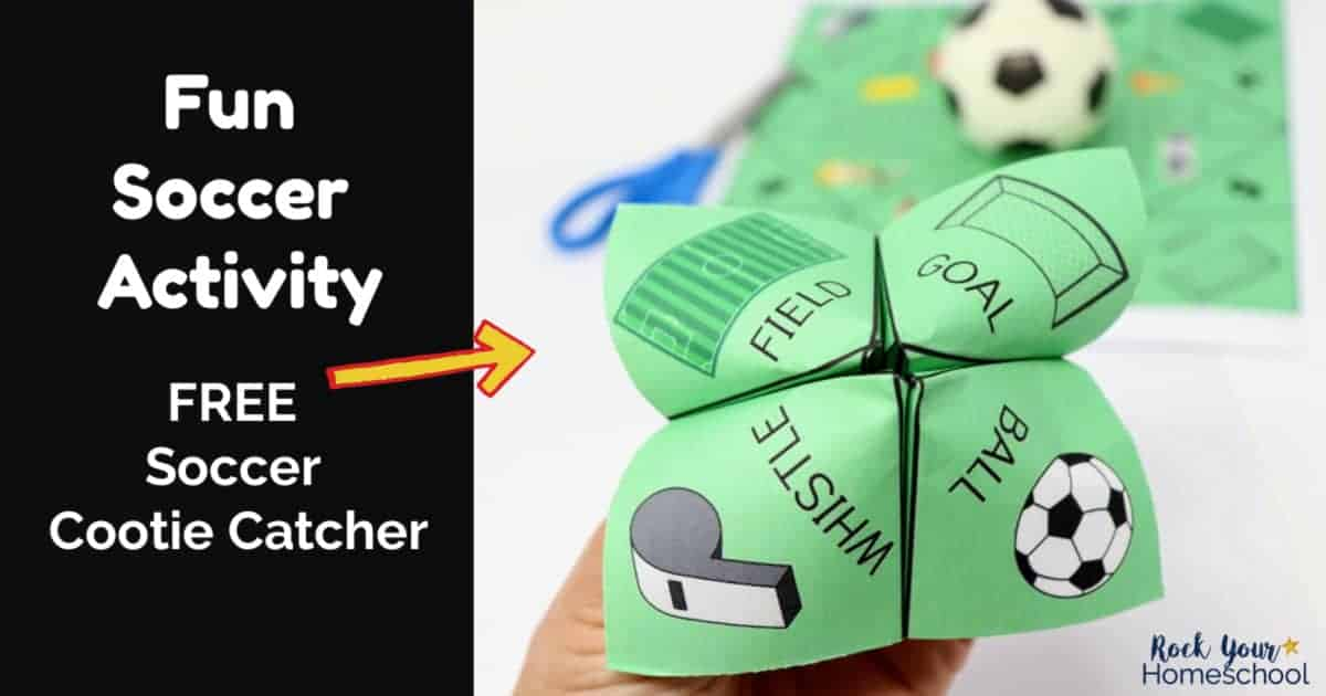 This free soccer cootie catcher is an awesome activity for your party, team, or family.