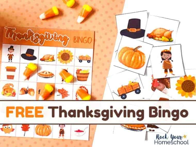 The free printable Thanksgiving Bingo game is an excellent way to have easy holiday fun with kids.