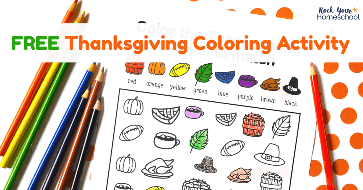 This free printable Thanksgiving coloring activity is a great way to have easy holiday fun with kids!