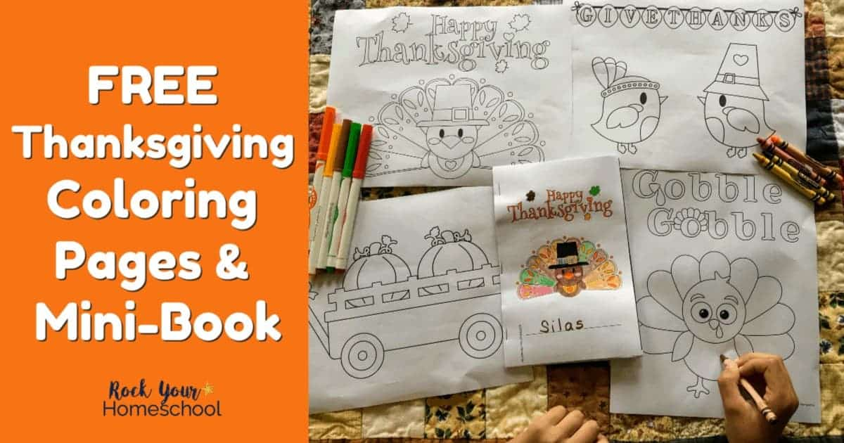 Your kids will love these free Thanksgiving coloring pages & mini-book to boost holiday fun.