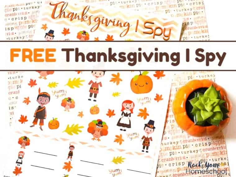 You can use this free printable Thanksgiving I Spy activity is an easy way to have holiday fun with your kids.