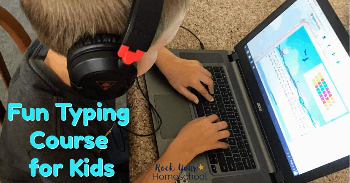 TypeKids, a fun typing course for kids, is an awesome way to boost your homeschool.