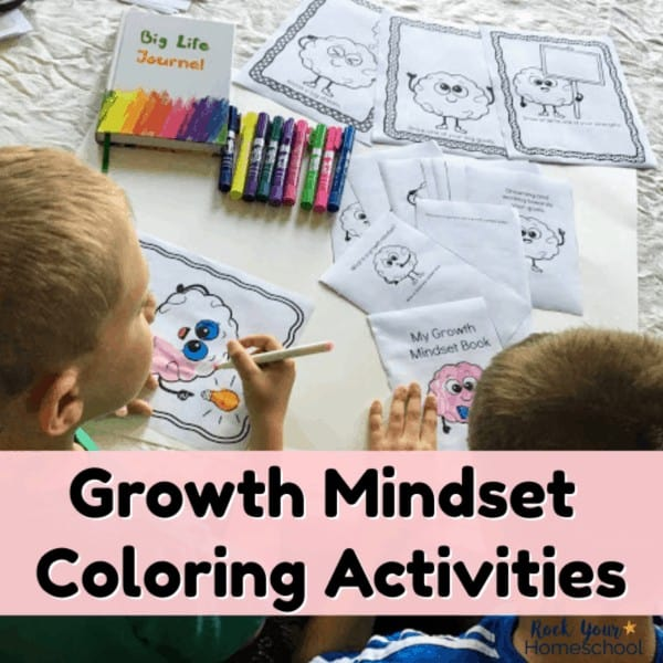 These free Growth Mindset Coloring Activities are fantastic ways to boost your growth mindset lessons & discussions.
