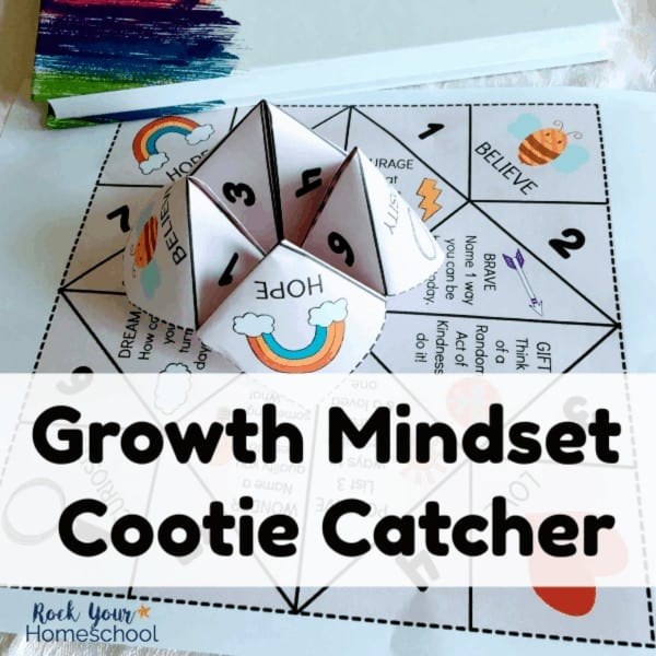 Have special growth mindset fun with this free cootie catcher.
